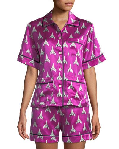 Millicent Marty Silk Shorty Pajama Set