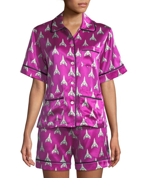 Millicent Marty Silk Shorty Pajama Set
