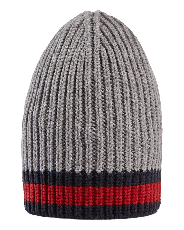 56988a8b409 Gucci Wool Beanie Hat w Web