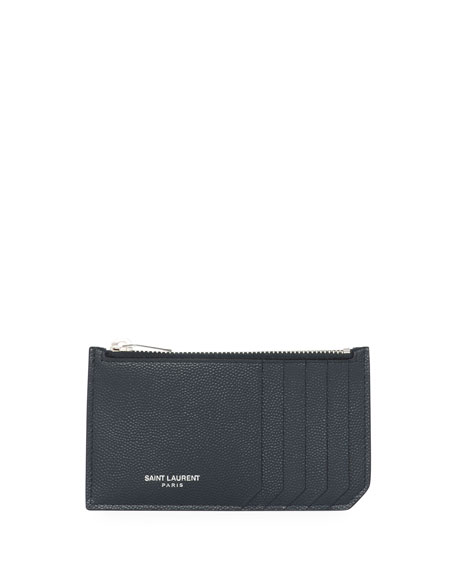 Fragment Leather Zip Card Case