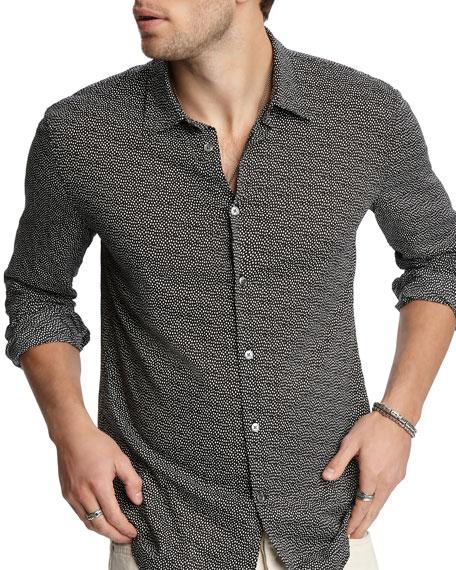John Varvatos Men's Slim-Fit Graphic Sport Shirt