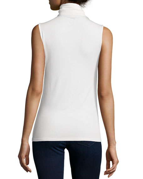 Soft Touch Sleeveless Stretch Turtleneck