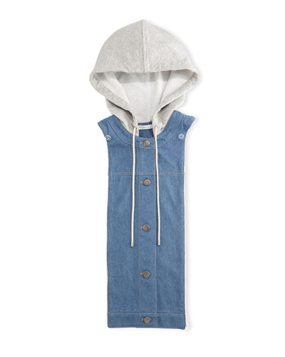 Chambray Hoodie Dickey, Blue