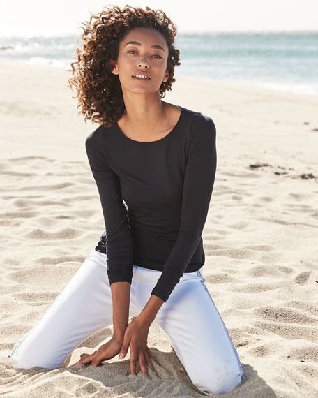Image 2 of 5: Majestic Filatures Soft Touch Marrow-Edge Long-Sleeve Top