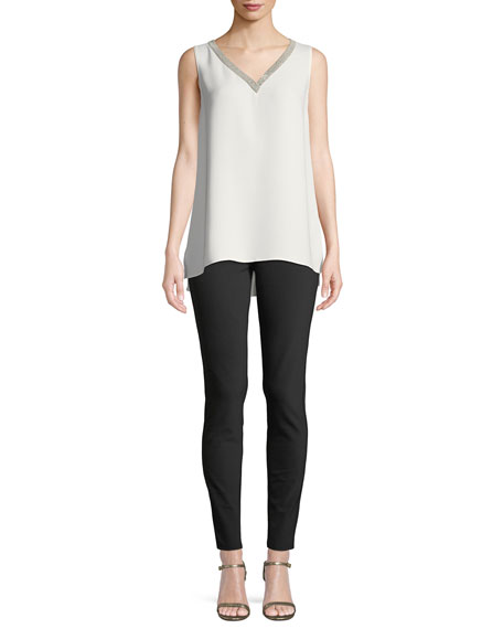 Lafayette 148 New York Mercer Acclaimed Stretch Mid-Rise Skinny Jeans