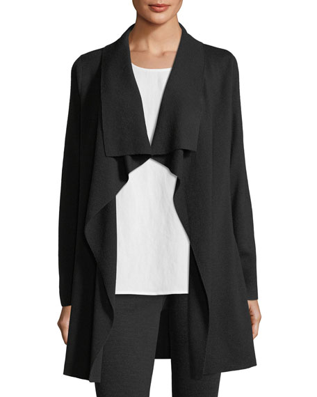 Fine Merino Interlock Long Cardigan