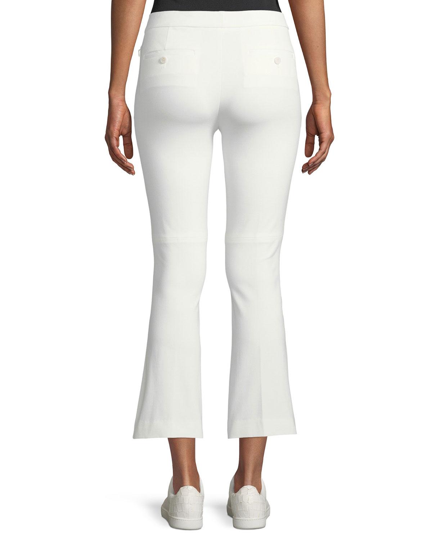 abd5a083da Theory Stretch-Cotton Cropped Kick-Flare Pants | Neiman Marcus