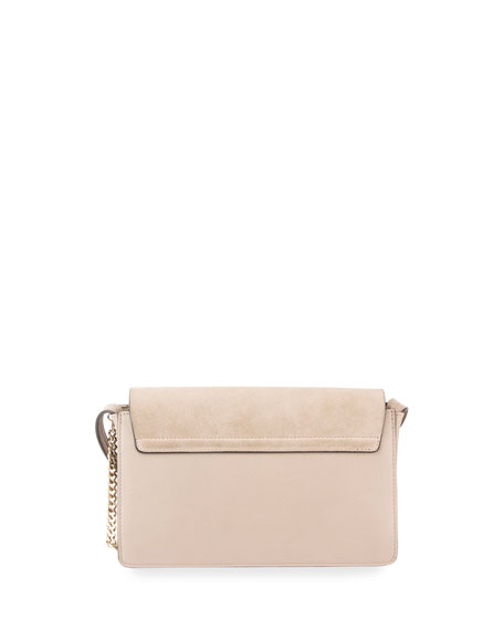 Image 3 of 5: Chloe Faye Small Suede/Leather Shoulder Bag