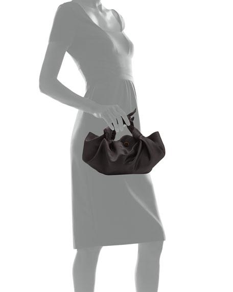 The Ascot Small Satin Hobo Bag