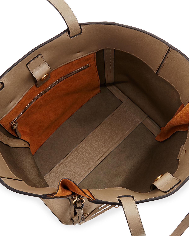9607ecaf9 Chloe Milo Medium Leather & Suede Tote Bag | Neiman Marcus