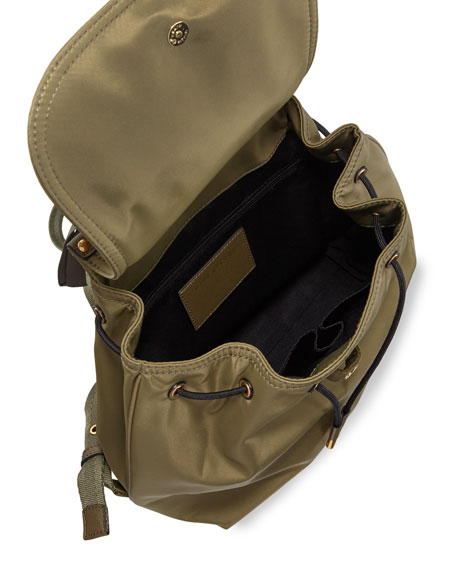 Trooper Nylon Flap Backpack