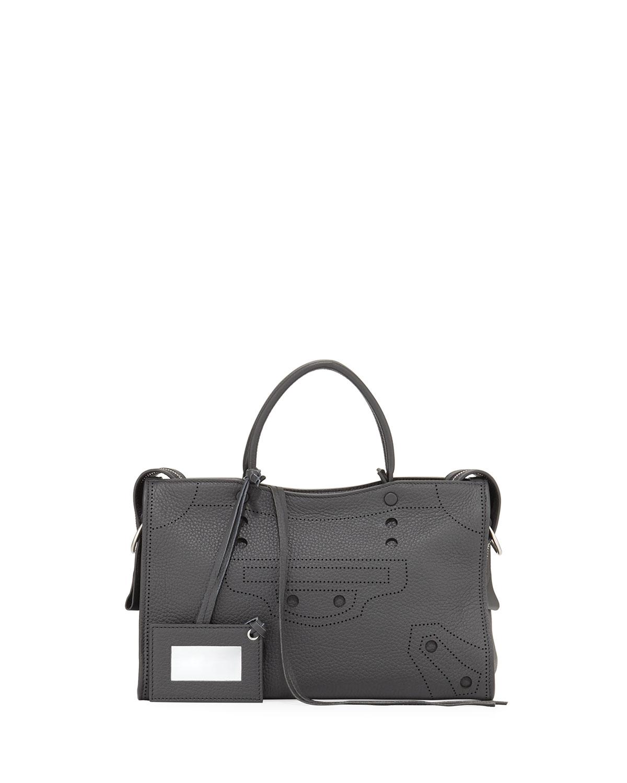 86e23bbefd9 Balenciaga Blackout City Small AJ Tote Bag | Neiman Marcus