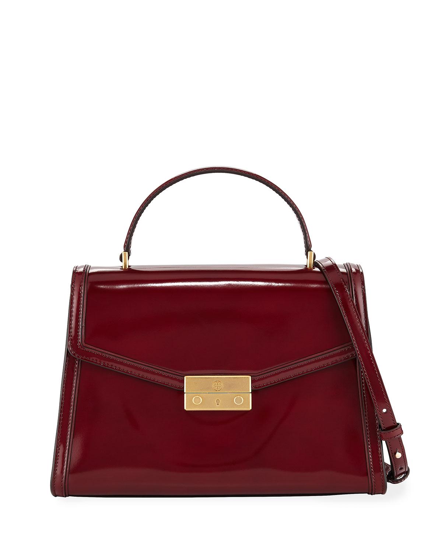 d377cd4bf580 Tory Burch Juliette Patent Top Handle Satchel Bag