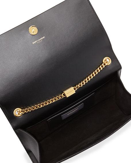 Saint Laurent Kate Medium Smooth Calfskin Clutch Bag w/ Tassel