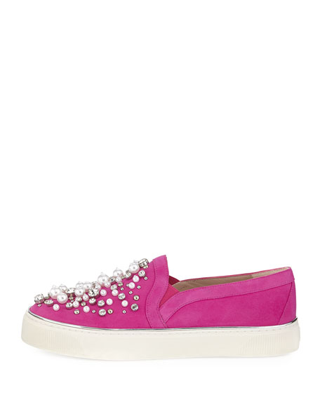 Decor Suede Embellished Sneaker
