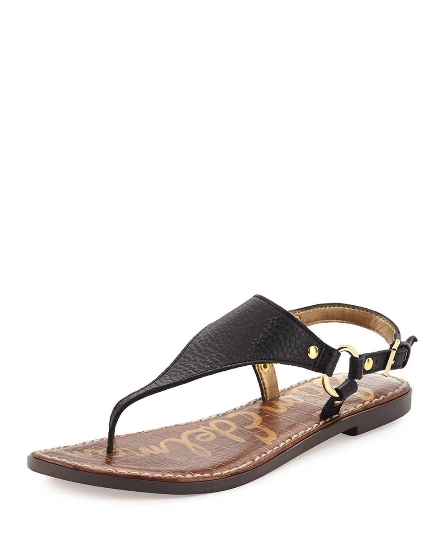 da2494afe02a Sam Edelman Greta Tumbled Leather Flat Sandal