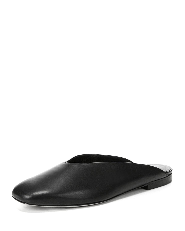 Vince Levins Flat Leather Mule Neiman Marcus