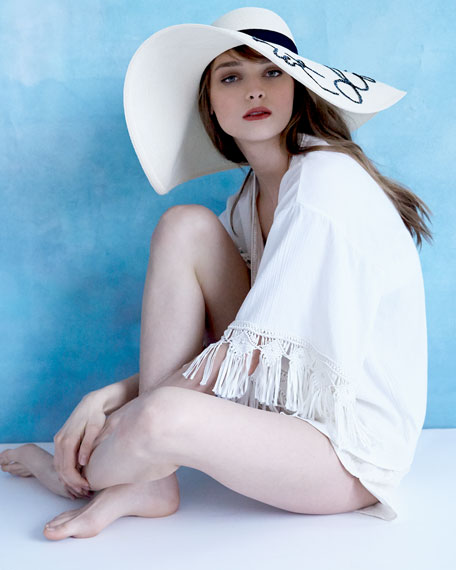 Image 3 of 3: Floppy Sunhat with Embroidery