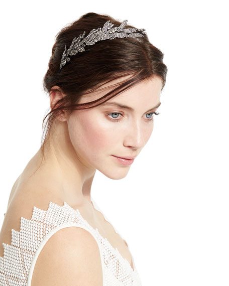 Jennifer Behr Arielle Crystal Leaf Headband