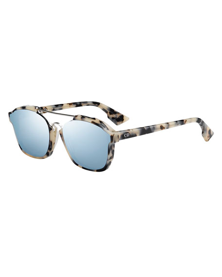 Square Abstract Havana Sunglasses