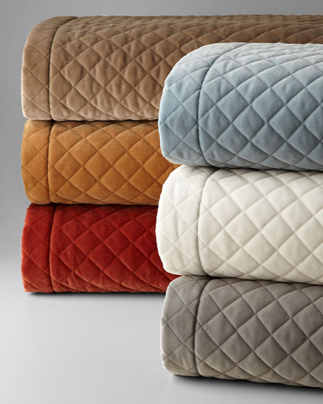 Austin Horn Collection Elite Queen Quilted Velvet Coverlet