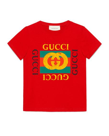 0a11da679 Gucci Gucci Logo T-Shirt, Size 4-12 | Neiman Marcus