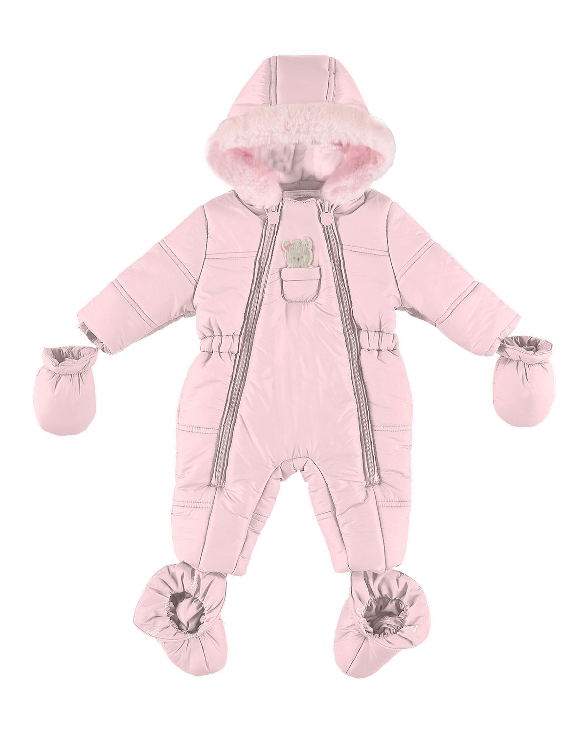 1961b5ad5 Mayoral Puffer Snowsuit with Bear in Pocket