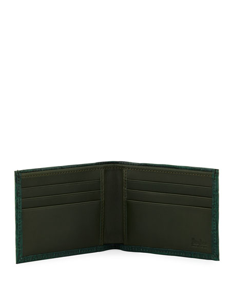 Image 3 of 3: Neiman Marcus Alligator Bi-Fold Wallet