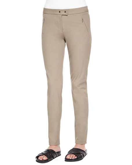 Theory Adalwen Jetty Slim Zip-Pocket Pants