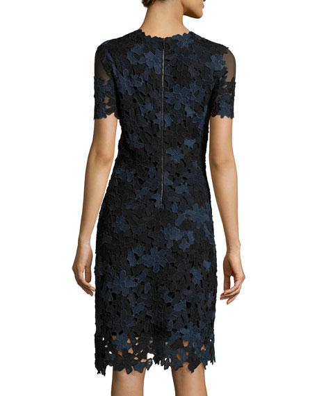 Ophelia Short-Sleeve Lace Sheath Dress