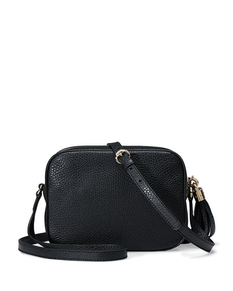 Image 3 of 4: Soho Leather Disco Bag, Black