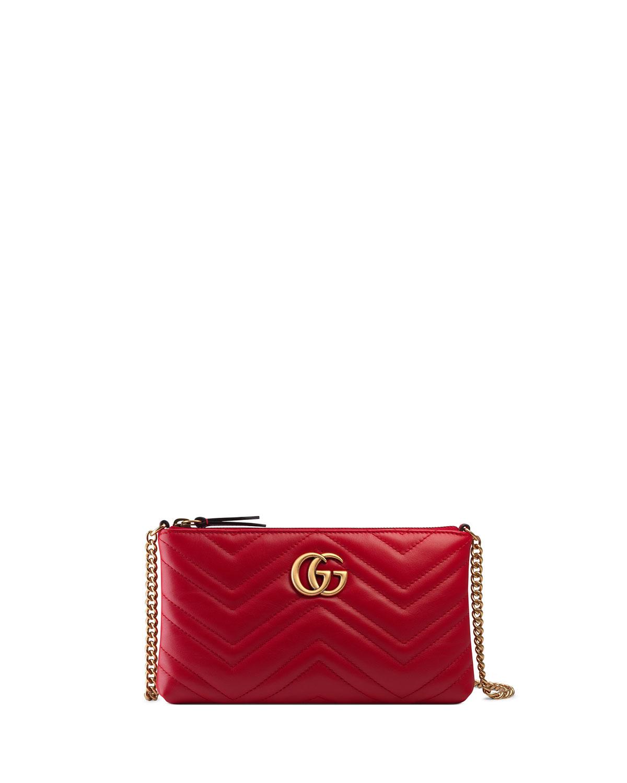 beb4ef5d04da43 Gucci GG Marmont Mini Matelassé Chain Bag | Neiman Marcus