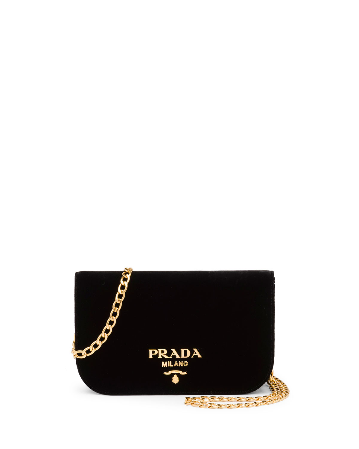 f5d9f4c312d3 Prada Small Velvet Flap Crossbody Bag
