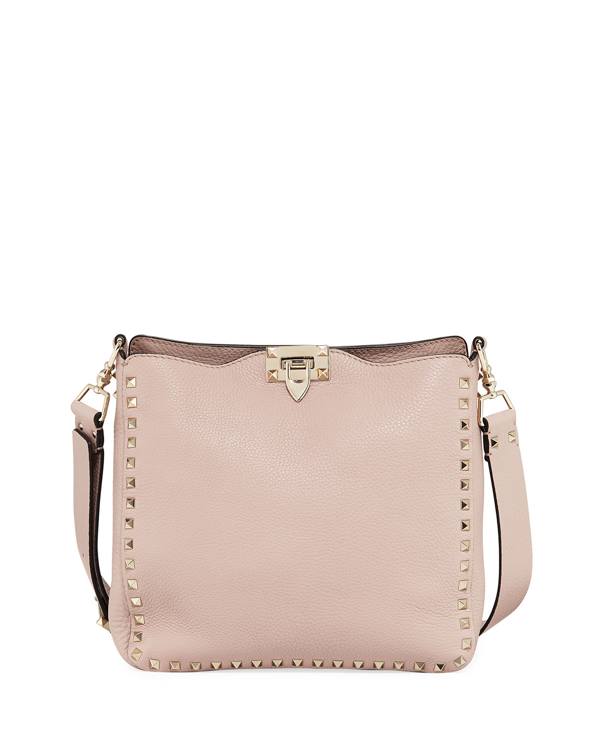 898f496bf9 Valentino Garavani Rockstud Small Leather Hobo Bag
