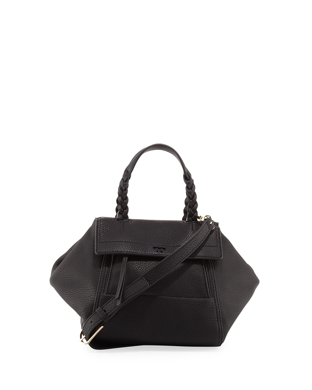 7cee3d68f862 Tory Burch Half-Moon Small Leather Satchel Bag