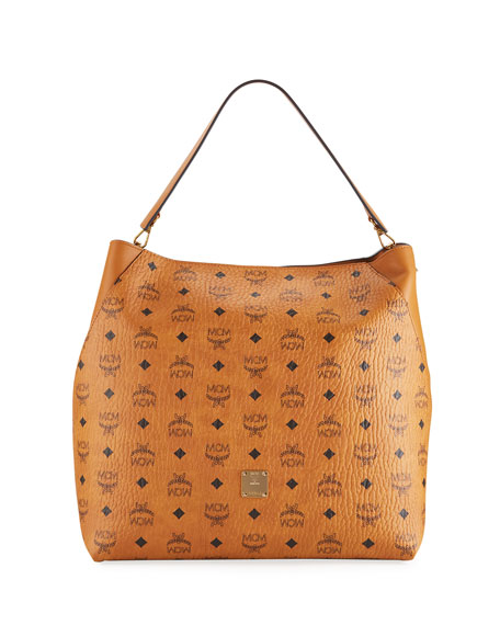 MCM Klara Large Leather Hobo Bag
