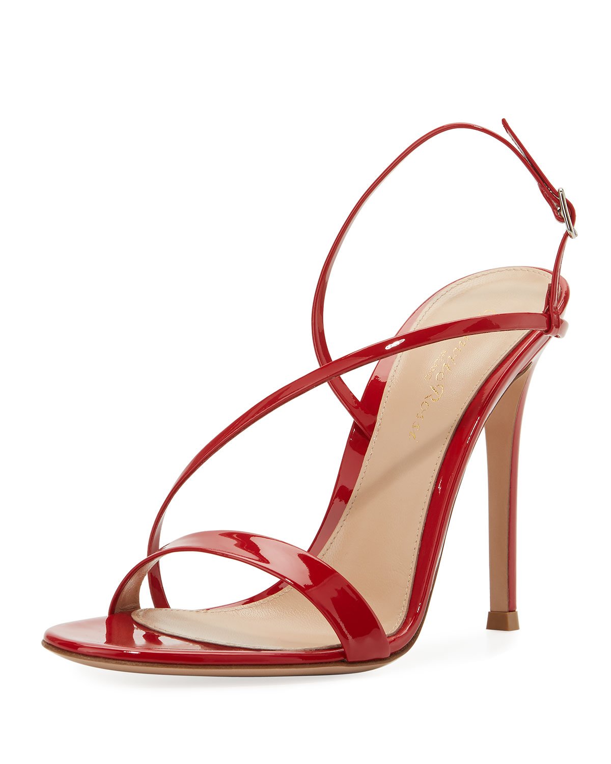 9cb6218be58 Gianvito Rossi Manhattan Strappy Patent 105mm Sandal