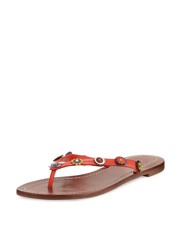 a01d105487115 Tory Burch Marguerite Terra Flat Thong Sandal