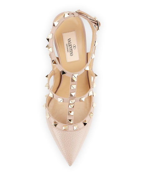 Valentino Garavani Rockstud Leather Caged Pump