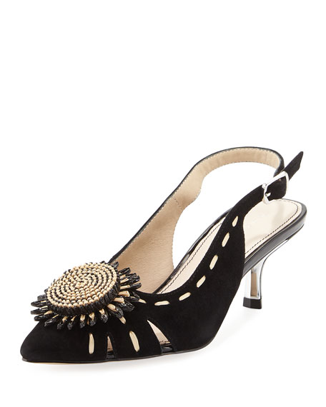 Donald J Pliner Suede Python-Trimmed Pumps free shipping great deals sale brand new unisex wiki sale online clearance real cheap clearance store KWsgJh