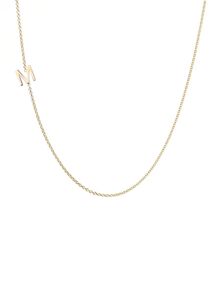 Maya Brenner Designs 14k Yellow Gold Mini Letter Necklace