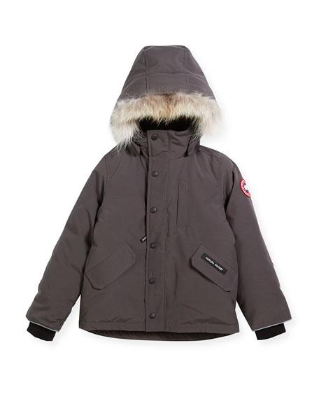 Canada Goose Boys' Logan Parka with Fur Trim,