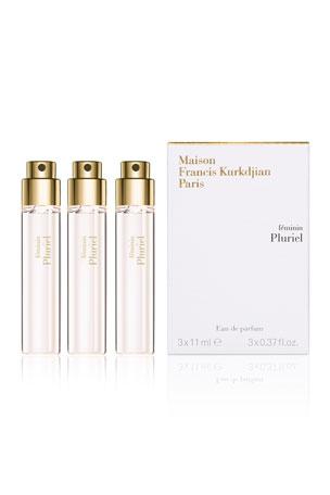 Maison Francis Kurkdjian 3 x 0.37 oz. féminin Pluriel Eau de Parfum Spray Travel Refills