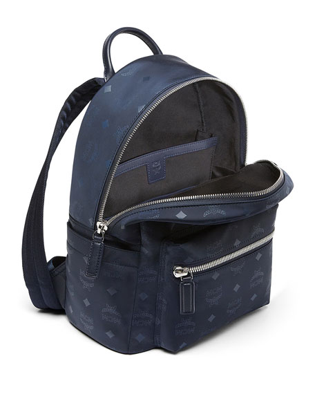 Image 2 of 4: Dieter Monogramed Canvas Backpack