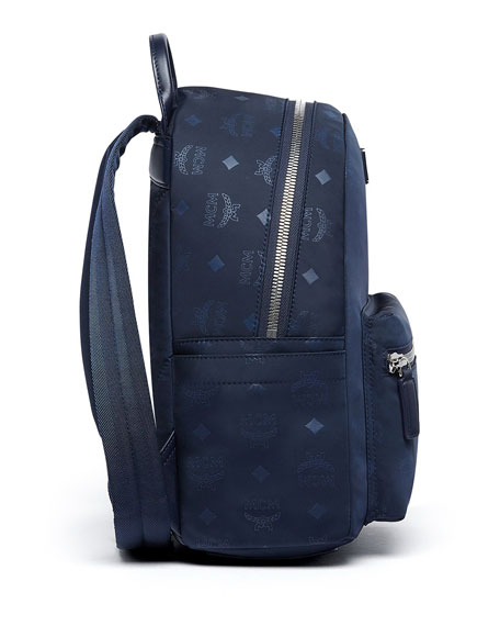 Image 3 of 4: Dieter Monogramed Canvas Backpack