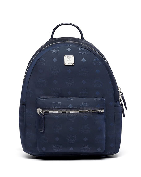 Image 1 of 4: Dieter Monogramed Canvas Backpack