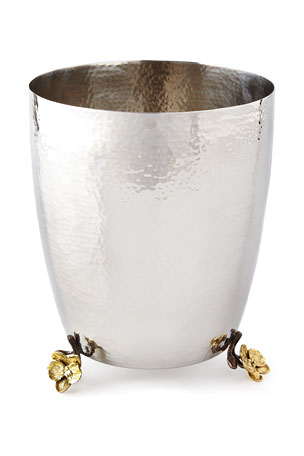 Michael Aram Gold Orchid Tissue Box Cover Gold Orchid Wastebasket