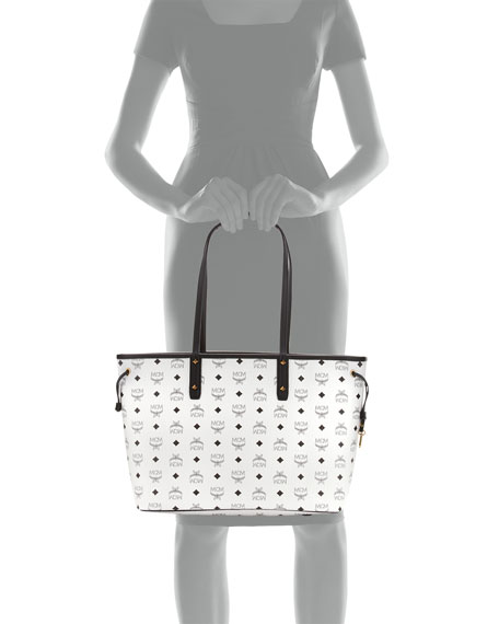 Shopper Project Visetos Reversible Tote Bag, White