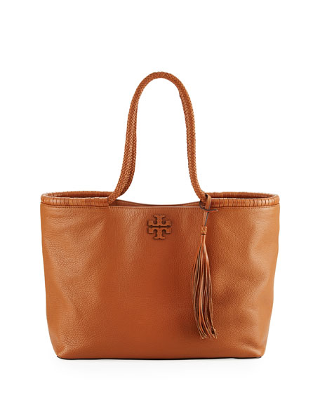 Taylor Braided-Handle Tote Bag