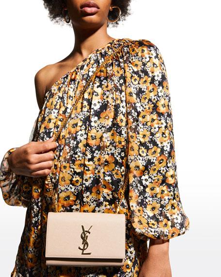 Saint Laurent Kate Monogram YSL Small Grain Leather Crossbody Bag